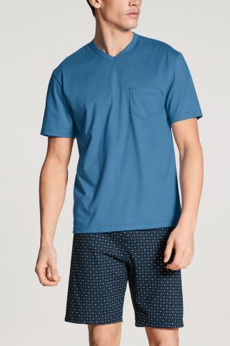 Abbildung zu Pyjama kurz parisian blue (41365) der Marke Calida aus der Serie Relax Imprint