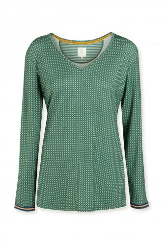Abbildung zu Trice Star Tile Top Long Sleeve (51511319-336) der Marke Pip Studio aus der Serie Loungewear 2021-2