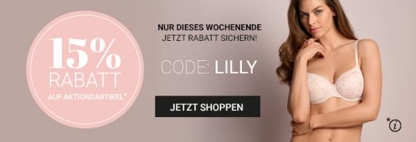 15 Prozent auf Aktionsartikel - Code Lilly