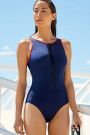 LideaActive ShapeHigh-Rise-Badeanzug mit Front-Zipper
