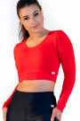 Calao Fitness Crop Top - red