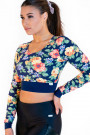 Calao Fitness Crop Top - bouquet