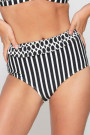 LingaDore Black and White High-Waist Bikini-Slip