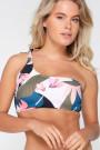 LingaDorePastel FlowerOne Shoulder Bandeau-Bikini-Oberteil