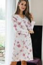 HutschreutherFashion 2021Nachthemd kurz Blumenprint, Spitze