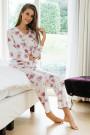 HutschreutherFashion 2021Pyjama lang Blumenprint, Spitze