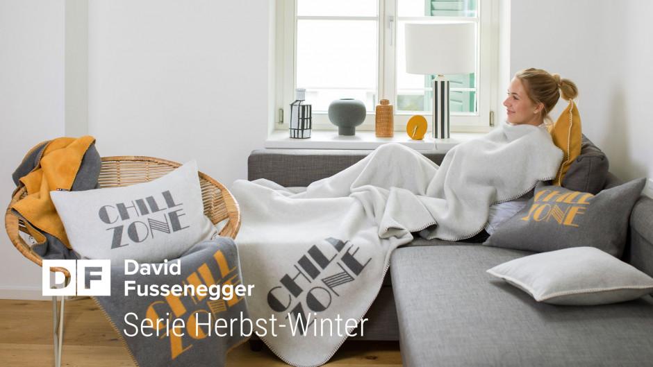 Stylische Kissen und Decken für das Wohnzimmer