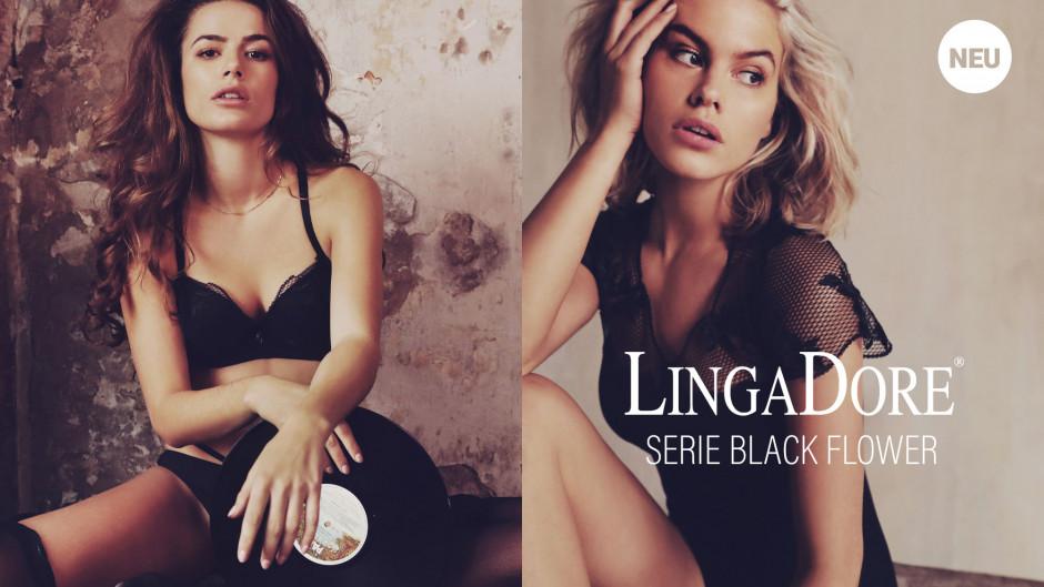 LingaDore - Black Flower